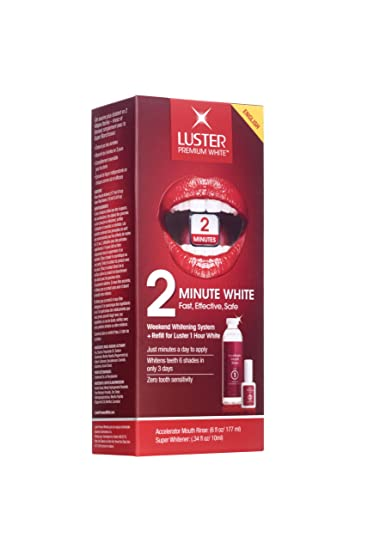 Amazon Luster 2 Minute White Kit Accelerator Mouth Rinse