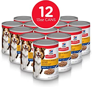 Hill's Science Diet Canned Wet Dog Food, Adult 7+ for Senior Dogs,Pack of 12 Cans