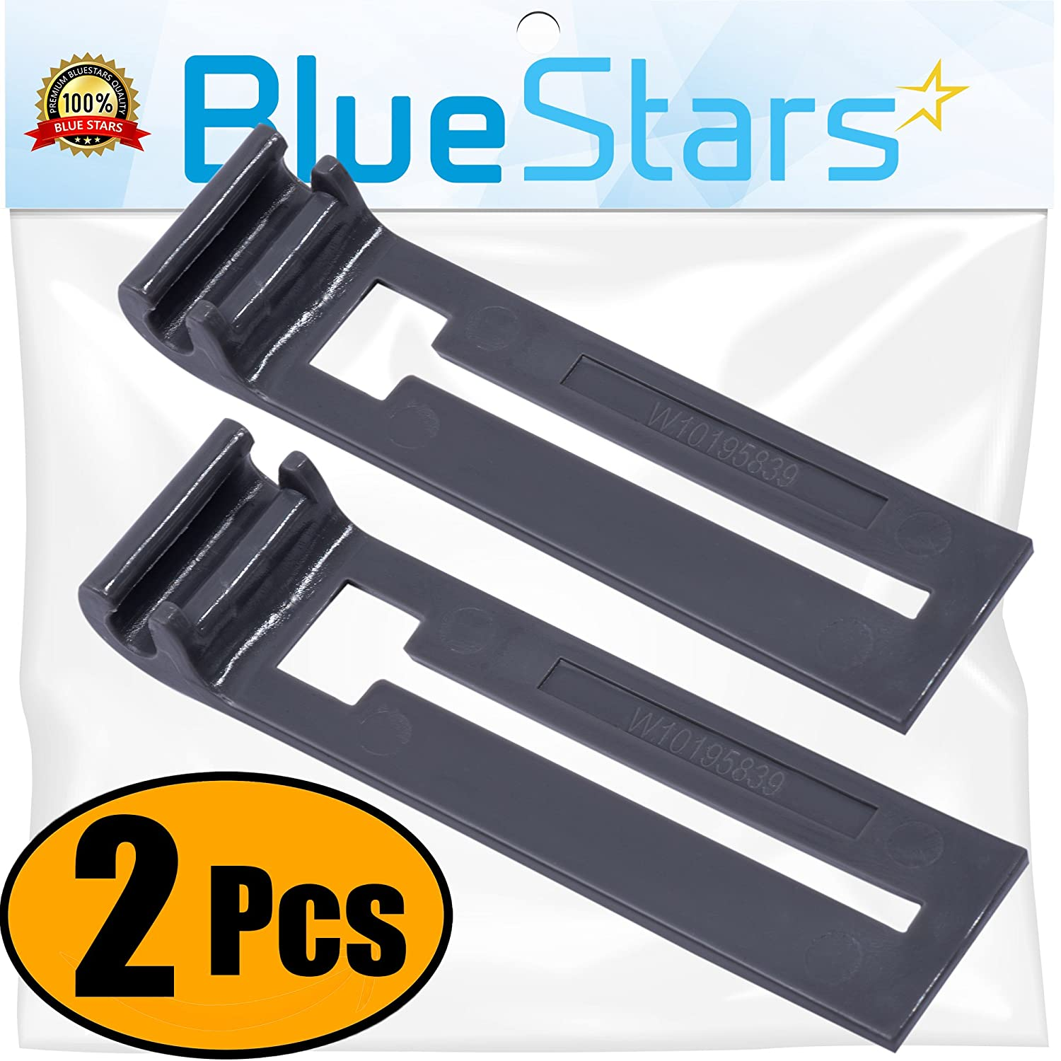 Ultra Durable W10195839 Dishwasher Rack Adjuster Replacement part by Blue Stars - Exact Fit for Whirlpool KitchenAid Kenmore Dishwashers - Replaces WPW10195839 PS11750092- PACK OF 2