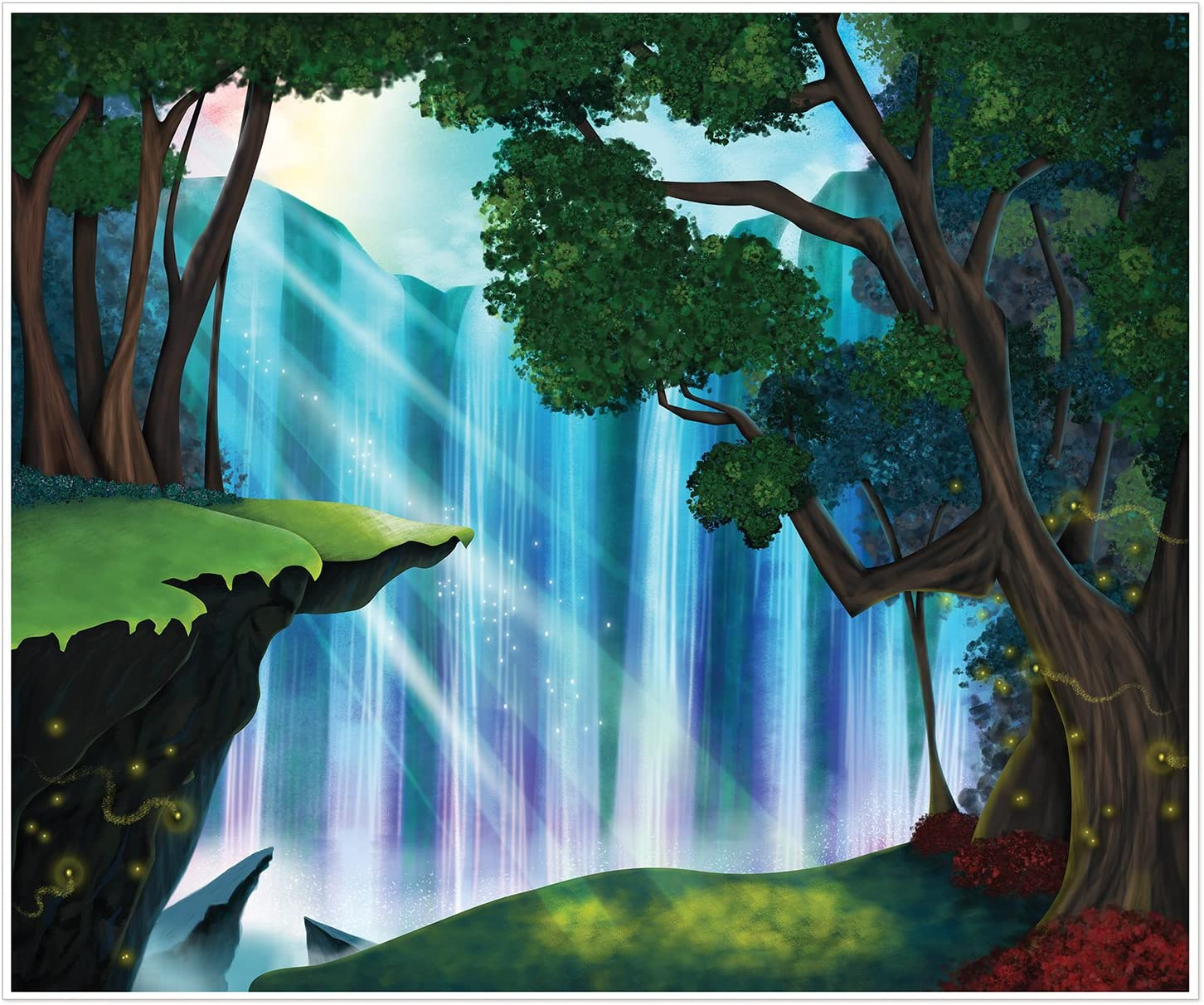 Beistle Fantasy Insta-Mural Wall Art Decor | Fantasy & Fairy Tale Theme Birthday Party Supplies & Decoration