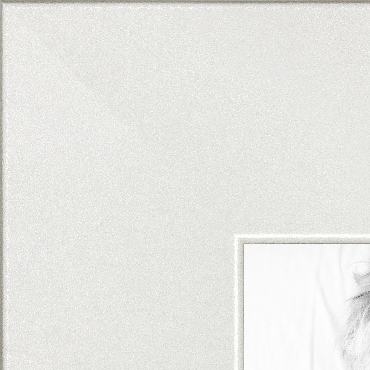 ArtToFrames 24x24 inch Modern White Frame Picture Frame, WOMFRBW74074-24x24