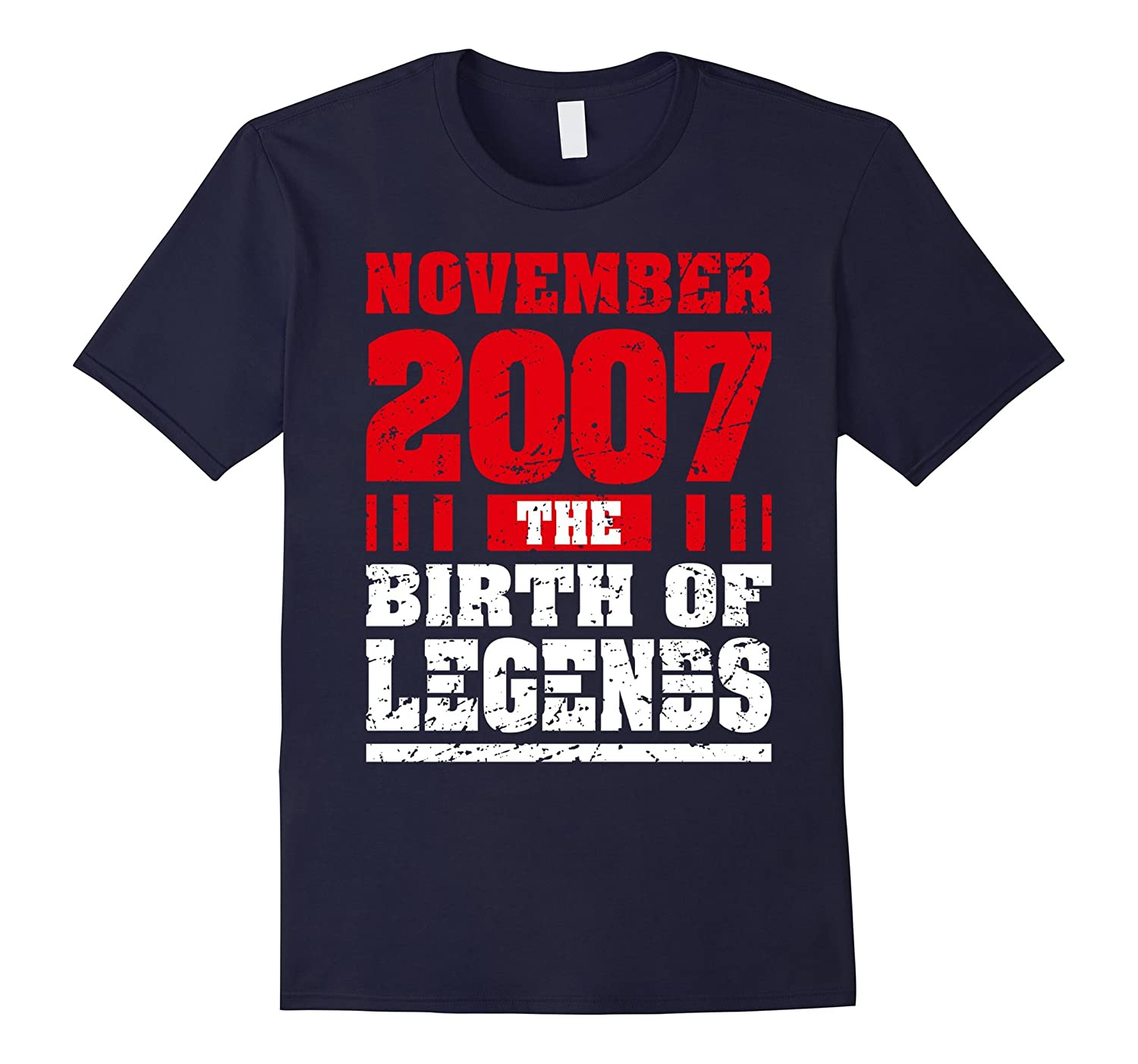 10th Birthday 10 Years Old Boy Born in November 2007 Tees-Rose