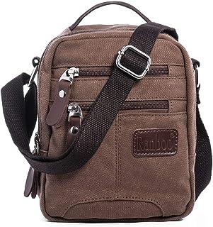 Men Shuolder Crossbody Bag Canvas Messenger Bag Satchel Bag Purse with many Pockets