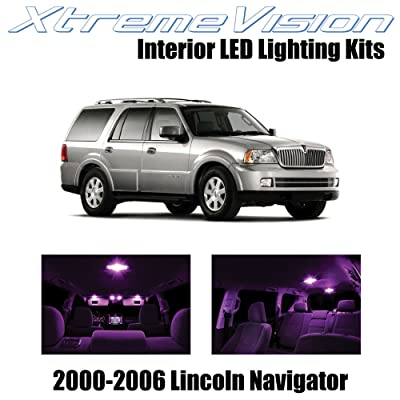 Xtremevision Interior LED for Lincoln Navigator 2000-2006 (6 Pieces) Pink Interior LED Kit + Installation Tool: Automotive