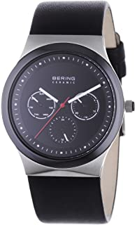 BERING Time 32139-402 Men Ceramic Collection Watch with Calfskin Strap and Scratch Resistent Sapphire