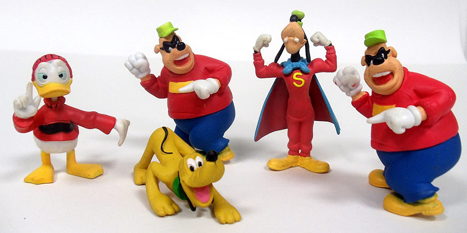 Pluto and The Beagle Brothers Around 2 to 3 Tall Pluto and The Beagle Brothers Around 2 to 3 Tall Holiday Playsets Goofy Duck Tales 5 Piece Figure Play Set Featuring Scrooge McDuck