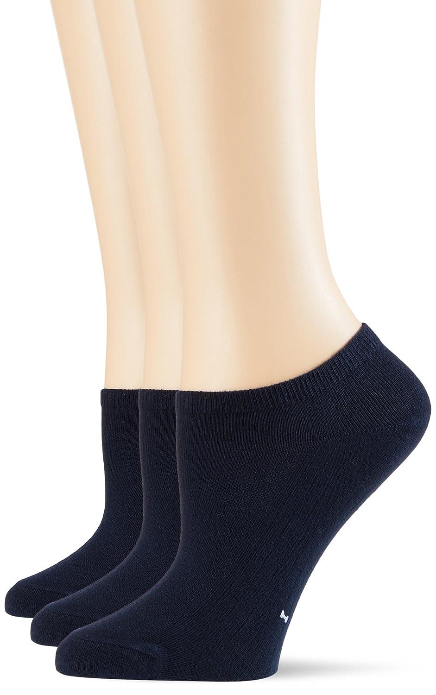 POMPEA Cotton, Calzini alla Caviglia Donna (Pacco da 3)