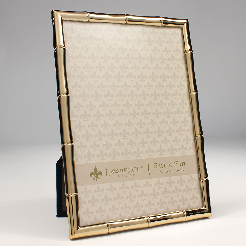 Lawrence Rahmen 5 x 7 gold Metall Bilderrahmen mit Bambus Design ...