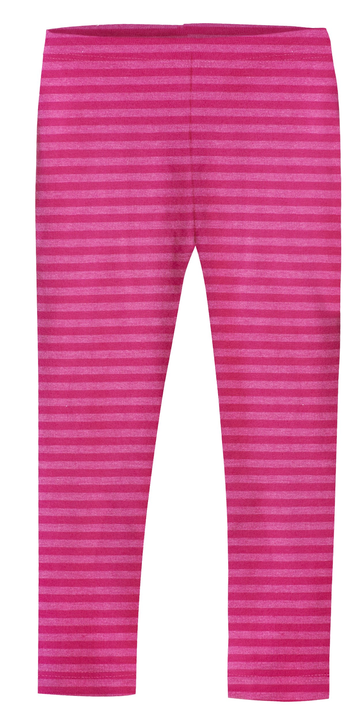 City Threads Girls' Leggings Cotton/Poly Blend for School Uniform Sports Coverage or Play Perfect for Sensitive Skin or SPD Sensory Friendly Clothing, Stripe Hot Pink, 5