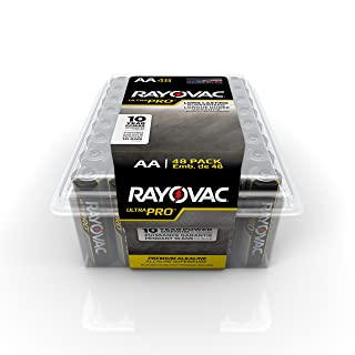 Rayovac AA Batteries, Ultra Pro Alkaline AA Cell Batteries (48 Battery Count)