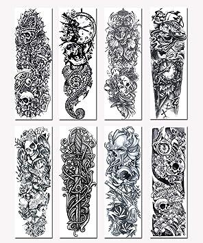 Bitsw Tatuajes Temporales 8 Piezas Moda Impermeable Removible