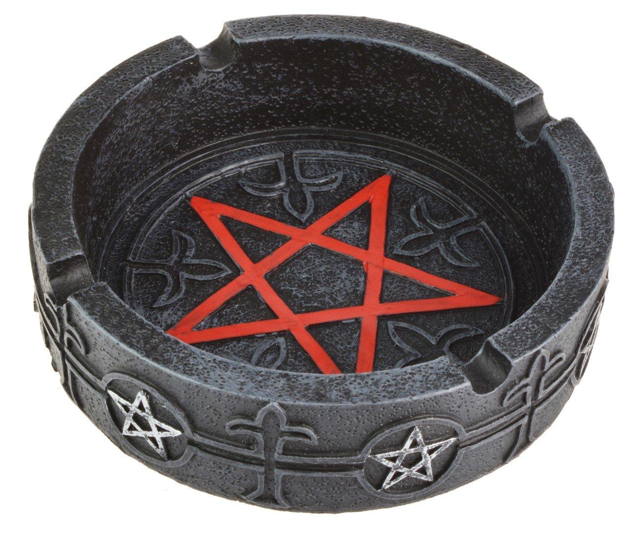 Gothic Pentagram Ashtray 12 cm