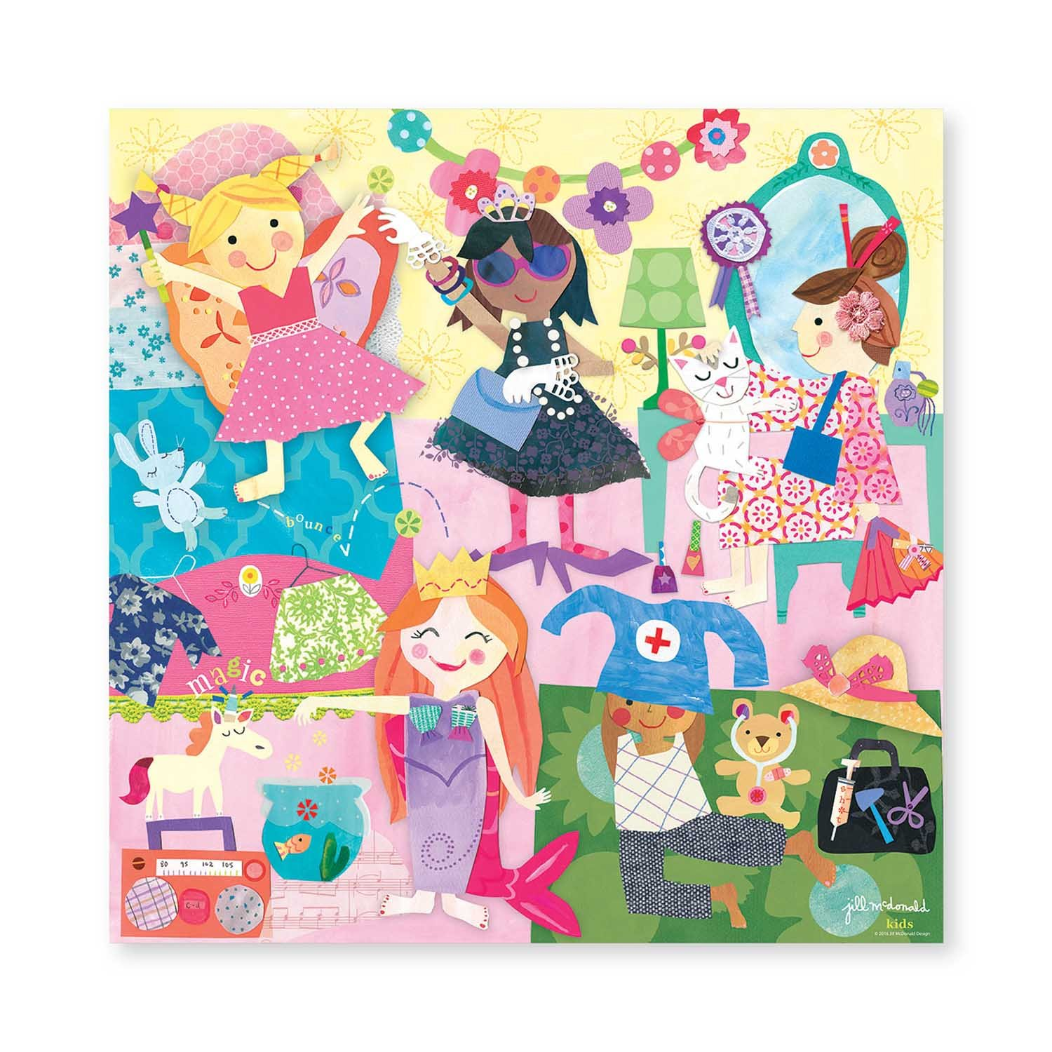 C.R 25pc BJP-11143 Gibson Ballerinas 25 Piece Jigsaw Puzzle Game for Kids