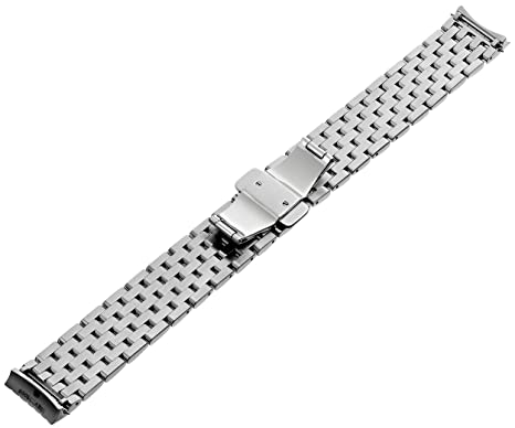 Amazon.com: MICHELE MS18EV235009 Serein 18mm Stainless Steel Silver Watch Bracelet: Watches