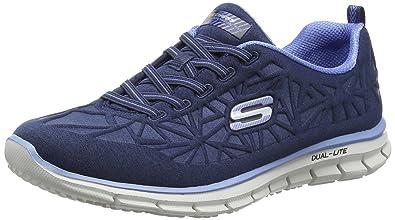 Details zu Skechers Glider IN THE ZONE Damen Fitnessschuhe blau Dual Lite