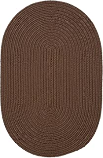 product image for Colonial Mills Boca Raton Braided Polypropylene Cashew 8'x11' Oval Rug