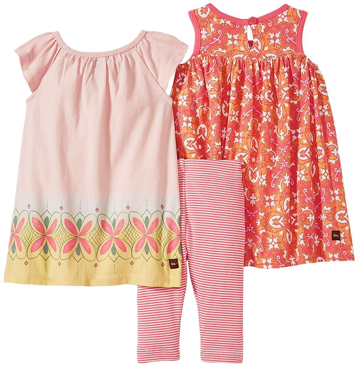 b2520a08e Amazon.com  Tea Collection Baby Girls  Peach Dream Set  Clothing