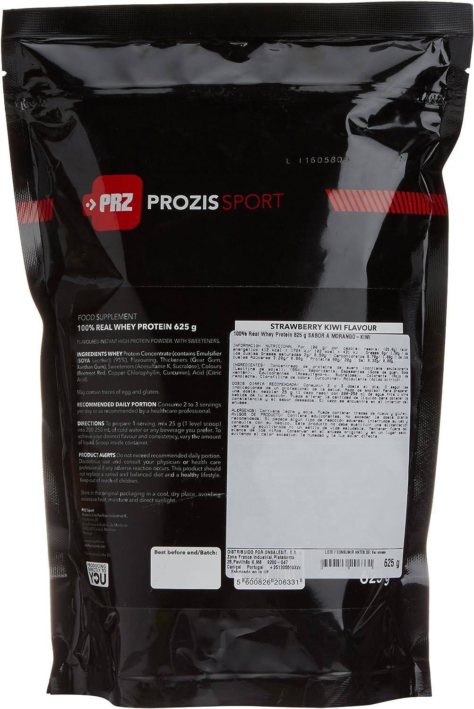 Prozis Sport 100% Real Whey Protein, Suplemento de Proteínas, Sabor a Fresa y Kiwi - 625 gramos