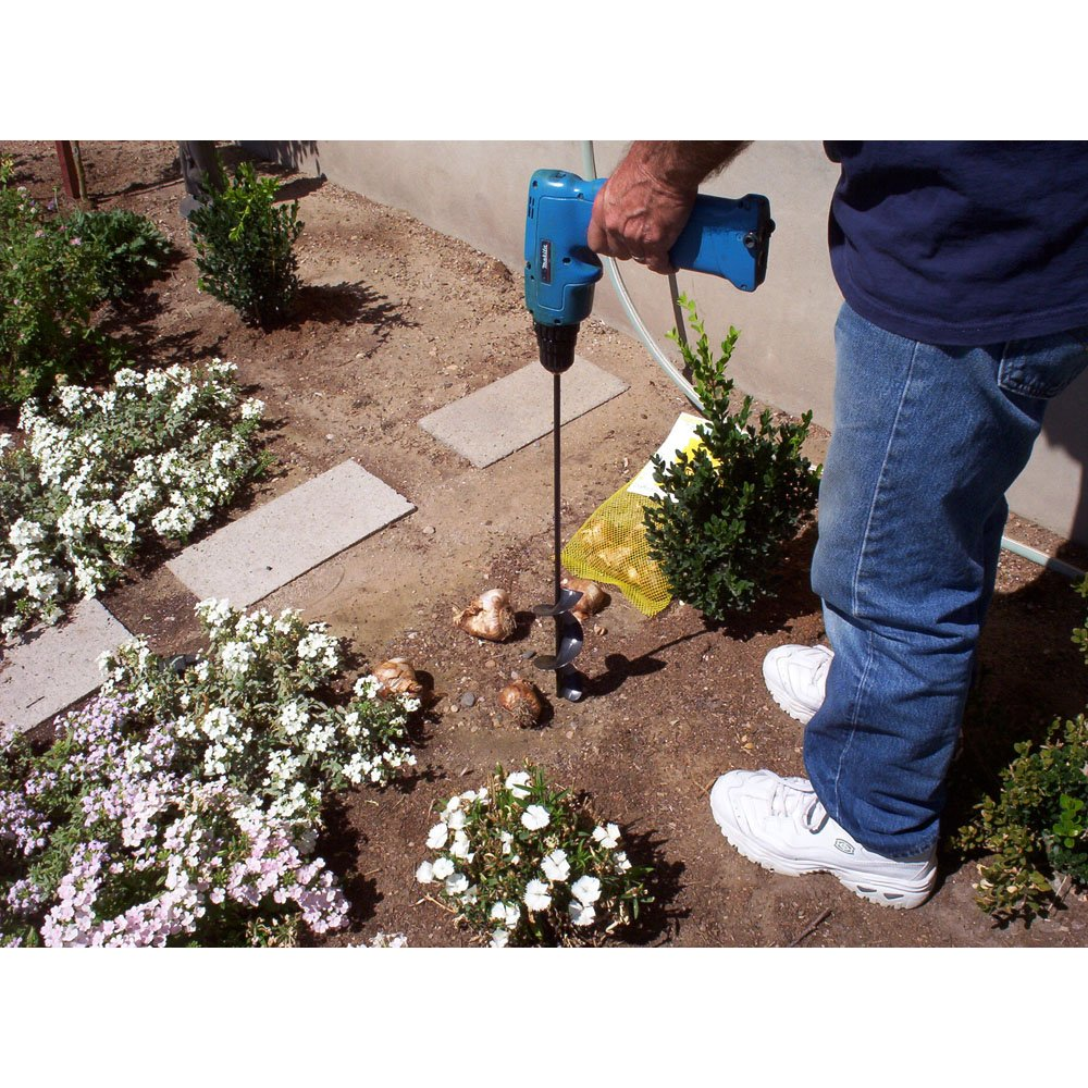 Yard Butler Roto Planter 24 Inch Garden Bulb Planting Auger Cordless