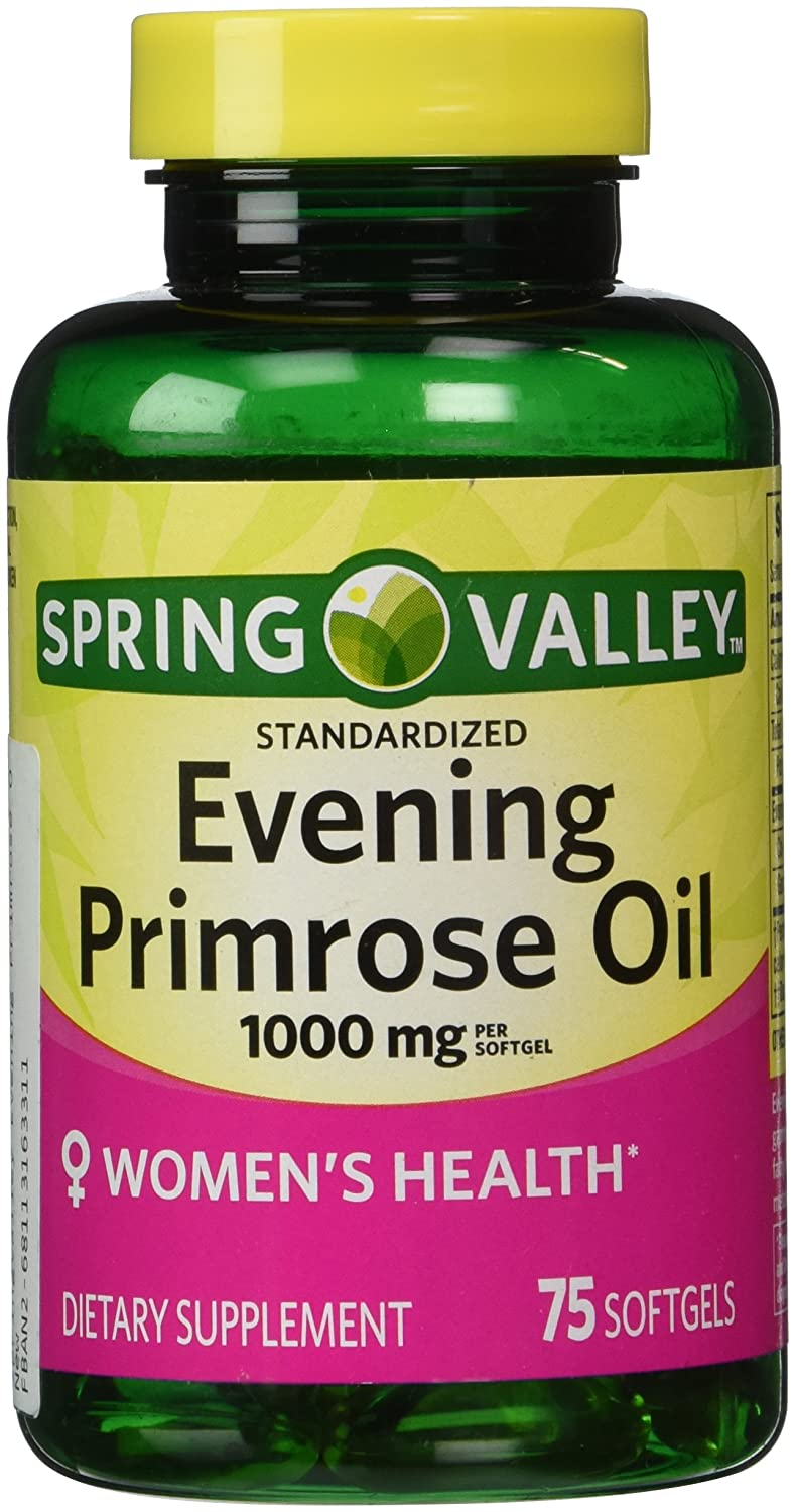 Spring Valley - Evening Primrose Oil 1000 mg, 75 Softgels: Amazon.es: Salud y cuidado personal