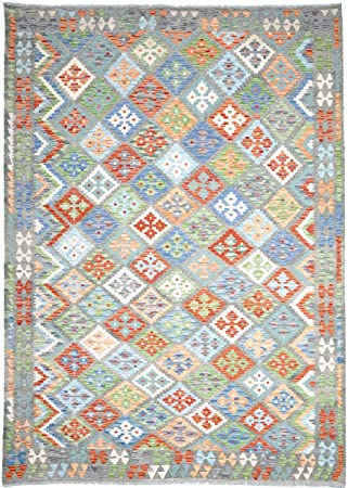 Nain Trading Kelim Afghan Himalaya 288x200 Orientteppich Teppich