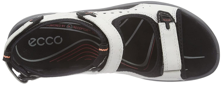 ECCO Women's Yucatan Sandal B011EA4K50 40 EU/9-9.5 M US|Shadow White