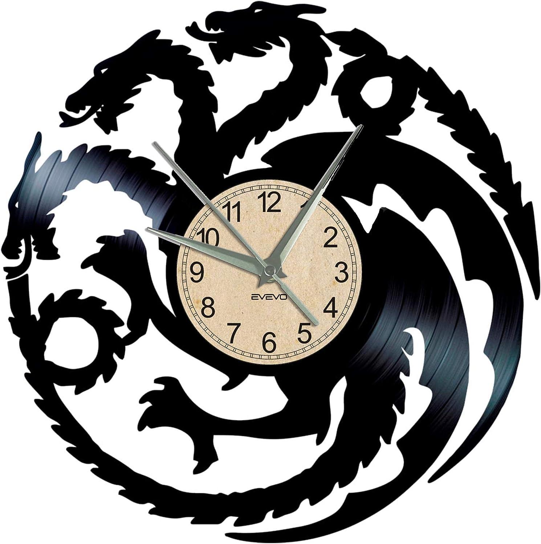 EVEVO Reloj de Pared de Juego de Tronos, de Vinilo, Vintage ...