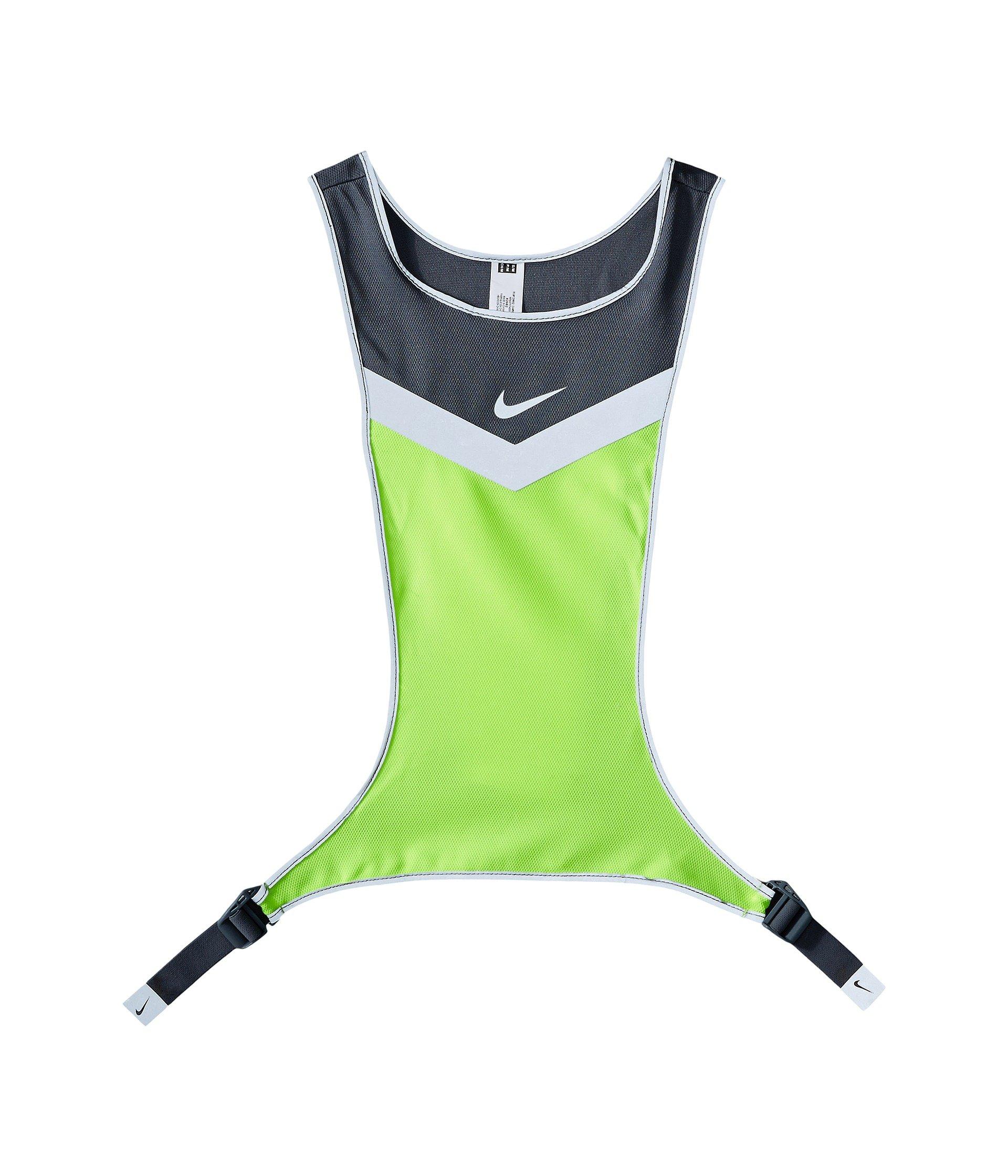 Nike Vividstrike Run Vest, Cool Grey/Volt/Silver, SM/MD by Nike