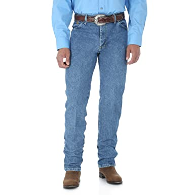 fb1924bc Wrangler Men's George Strait Cowboy Cut Original Fit Jean, Stone Wash, 32W  x 38L