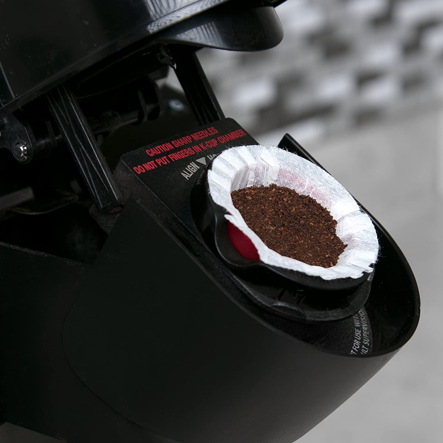 with 50 Filters 100/% Compatible with Keurig Simple Cups CUP-R002-CF Set of 2 Reusable Coffee K-cup Cups