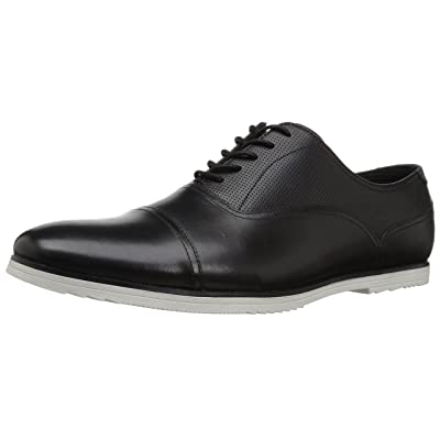 ALDO Men's CYFORIEN Oxford, Black Leather, 7 D US | Oxfords