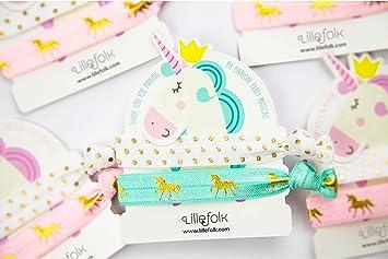 Amazon.com: Unicornio Corbatas de pelo y pulsera de ...