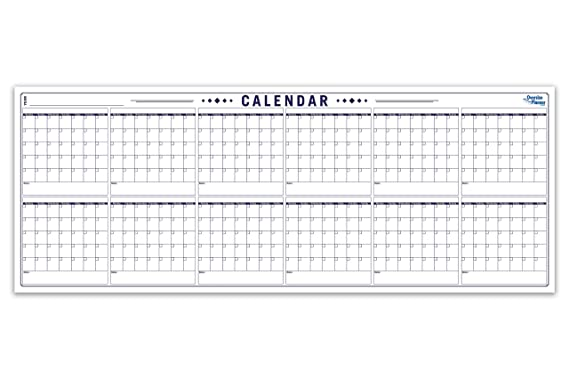 Planificador/calendario anual de pared grande, pizarra ...