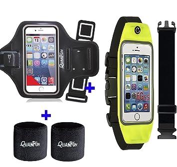 Running cinturón artmband con extensor para Smartphone, quanfun ...