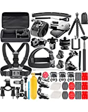 Neewer 53-In-1 Action Camera Accessory Kit for GoPro Hero 7 6 5 4 3+ 3 2 1 Hero Session 5 Black AKASO EK7000 Apeman SJ4000 5000 6000 DBPOWER AKASO VicTsing WiMiUS Rollei QUMOX Lightdow Campark und Sony Sports Dv