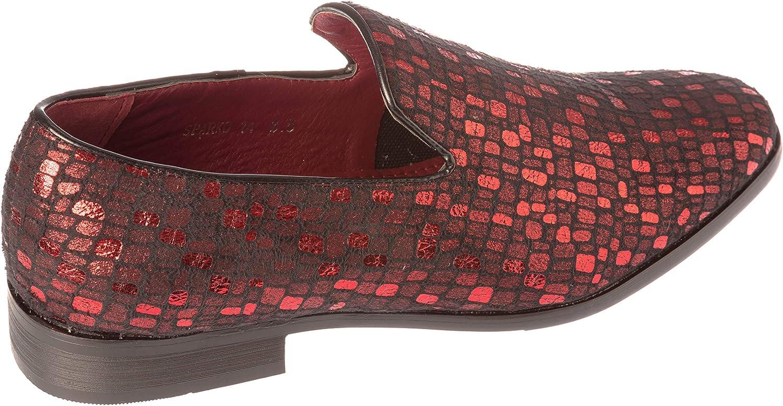 sparko14 Mens Slip-On Fashion-Loafer Sparkling-Glitter Dress-Shoes