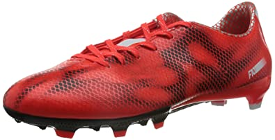 detailed look a3dbb 5cdf0 adidas F10 FG Mens Soccer Boots Cleats -Red-7.5