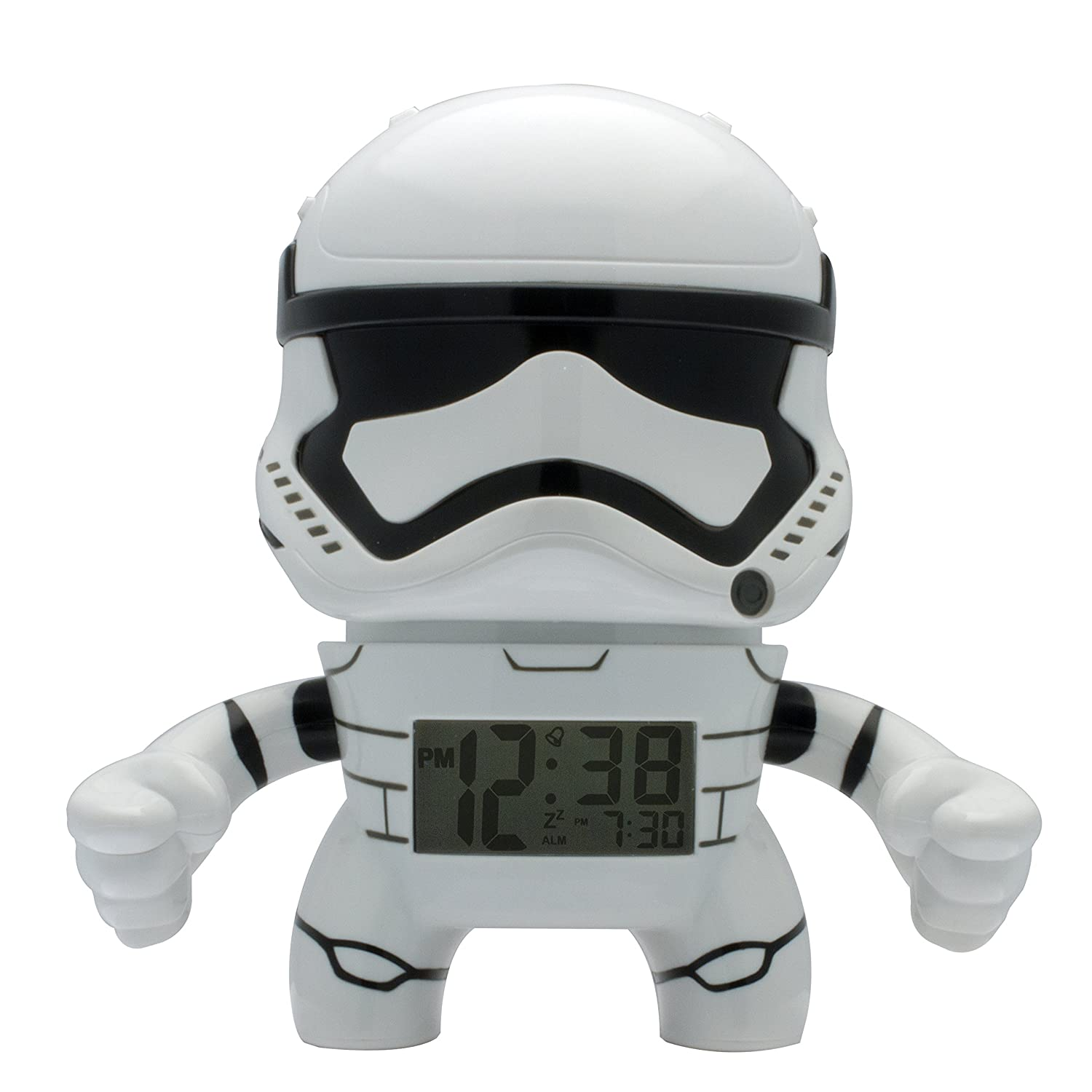 BulbBotz Star Wars 2020015 Stormtrooper Kids Light Up Alarm Clock | white/black | plastic | 7.5 inches tall | LCD display | boy girl | official ClicTime