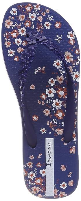 Ipanema Damen Fashion Floral Fem Zehentrenner, Mehrfarbig (Blue), 43 EU
