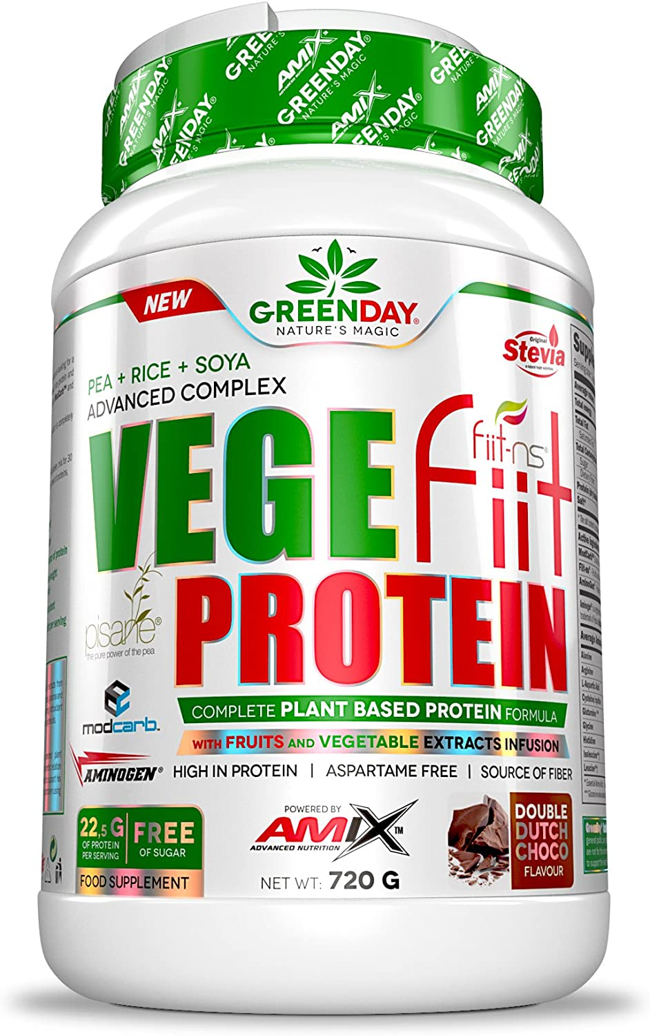 Amix Vegefiit Protein 720Gr Cacahuete-Choco-Caramelo 720 ...