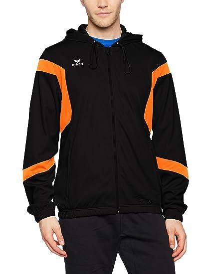 8d4d5143164b0a Erima Herren Classic Team Trainingsjacke mit Kapuze schwarz Orange 4XL