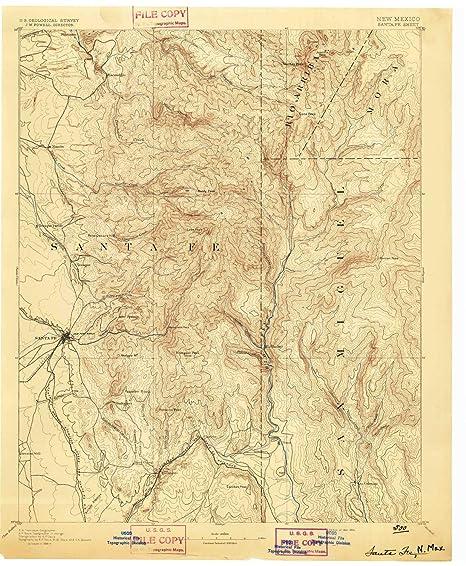 Amazon.com : YellowMaps Santa Fe NM topo map, 1:125000 Scale ...