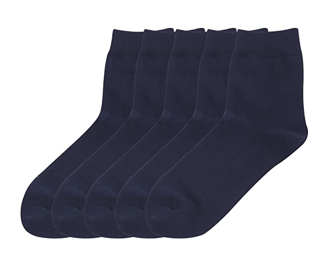 DEBAIJIA 5 Pares Calcetines de Negocio Crew Dress Socks Para Hombre, Algodón Rico Calcetines de