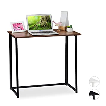 Relaxdays Escritorio Plegable, Mueble de Oficina, 74,5x80x45 cm ...