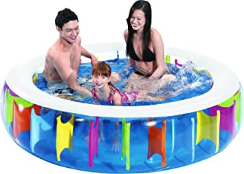 Jilong Rainbow Pool Ø 190 X 50 Cm Kinderpool Planschbecken Schwimmbecken  Kinder Schwimmbad Für Garten Und