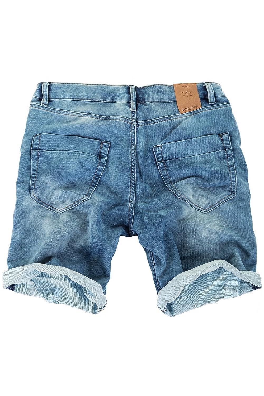 23ed63e1e632 Sweat Denim Jeans Kurze Hose Shorts Jogger Capri Bermuda Herren Sweathose  Sublevel Authentic dunkelblau  Amazon.de  Bekleidung