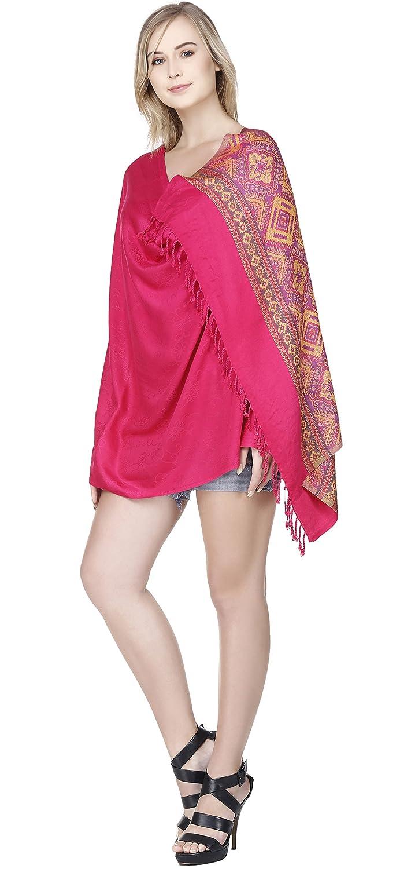 SKAVIJ Chal For Women Reversible Viscose Wrap Moda Bufanda Roja con ...