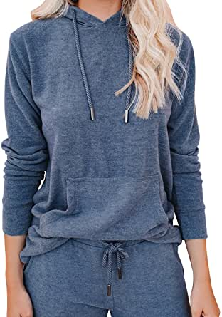 Lounge Sets for Women Two Piece Outfits Sweatsuits Sets Long Pant Loungewear Workout Athletic Tracksuits with Pockets