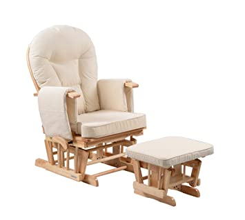 Sereno Nursing Glider Maternity Rocking Chair With Glide Lock And Footstool  U2026 (Natural)