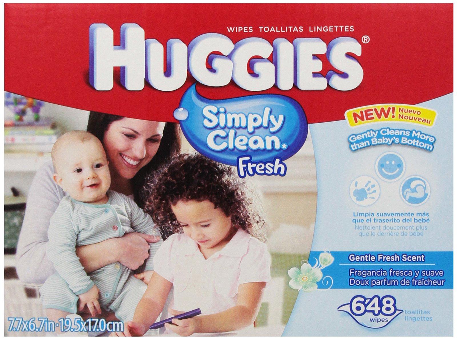 Huggies Simply Clean Fresh Baby Wipes, 648 Count